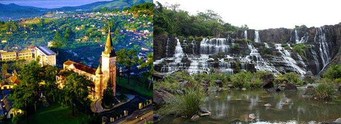 Храмы и водопады в Далат
