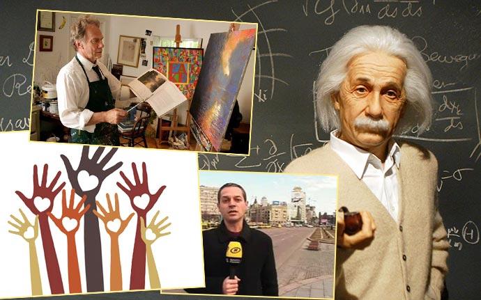 Ученые, волотеры, работники СМИ и искусства