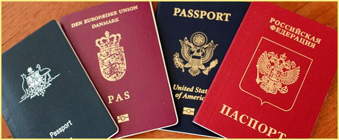Паспорта РФ и других стран