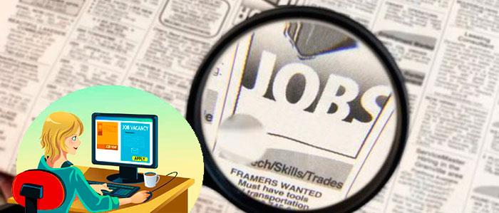 Поиск работы в газетах и интернете