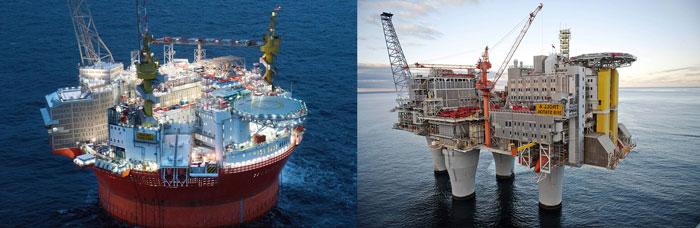 Работа на нефтяных вышках в Норвегии