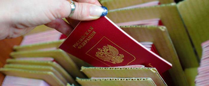 Картотека с паспортами РФ