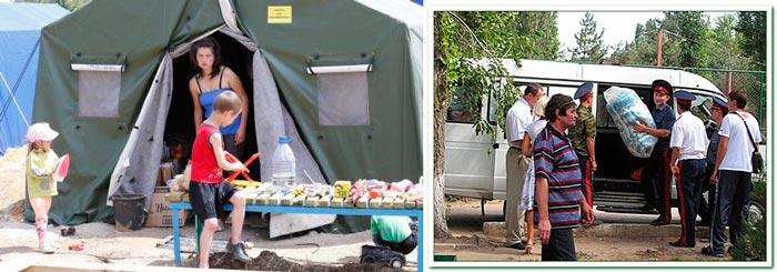 Палатки гуманитарной помощи в Ростов-на-Дону