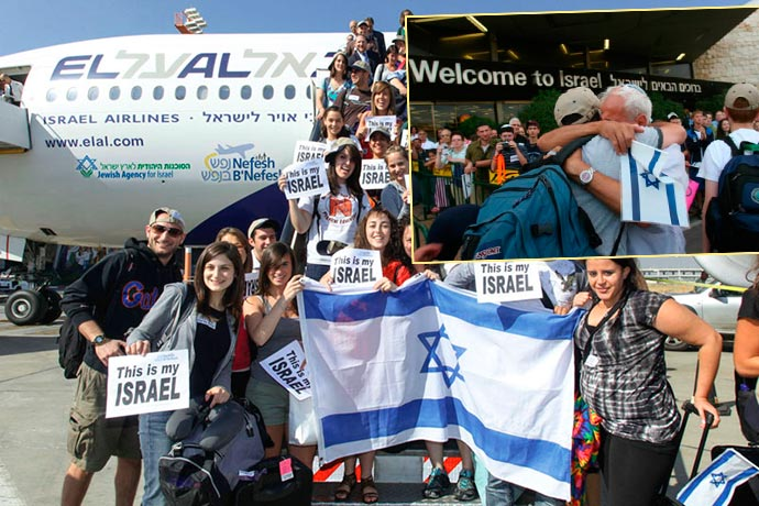 Прибытие самолета в Израиль и репатриация