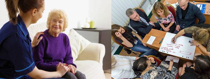Уход и воспитание пожилых и детей