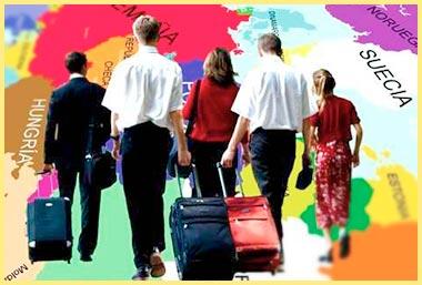 Лди с чемоданами мигрируют