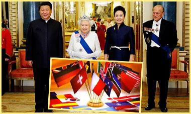 Флаги арзных стран и правительство